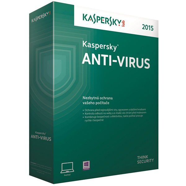 KASPERSKY Anti-Virus 2015 CZ 3PC/1rok