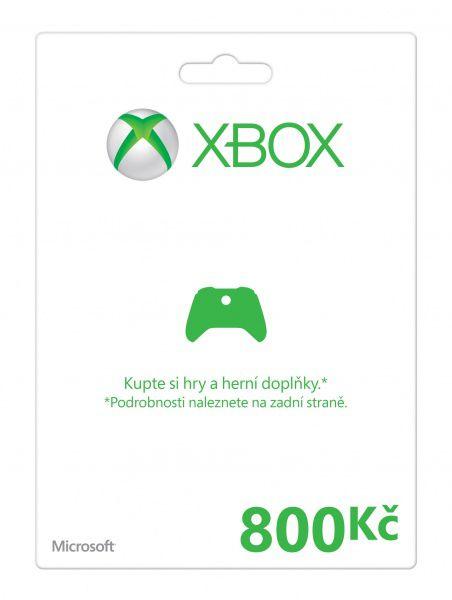 Xbox Live Předplacená dárková karta 800 Kč