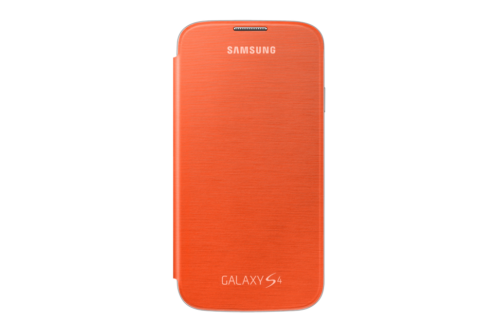 SAMSUNG flipové pouzdro EF-FI950BO pro Galaxy S4 (i9505) oranžové