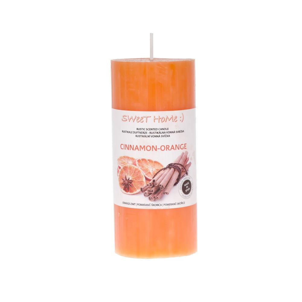 Sweet Home Pomeranč-skořice aromatická svíčka (400g)