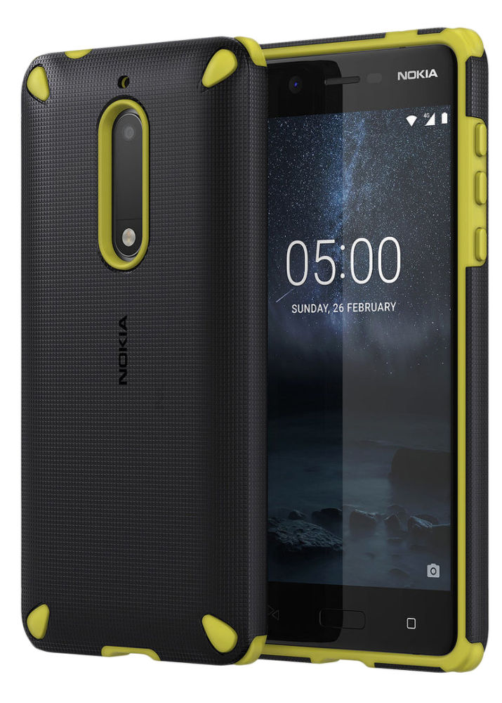 Nokia Rugged Impact Case pro Nokia 5, Lemon black