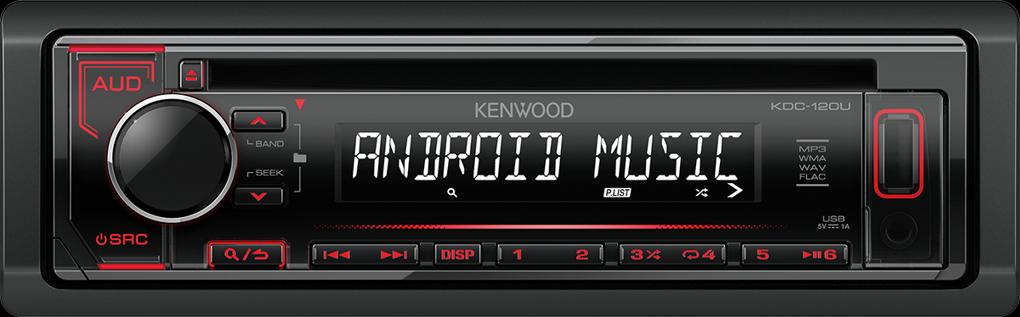 Kenwood KDC-120UR červené
