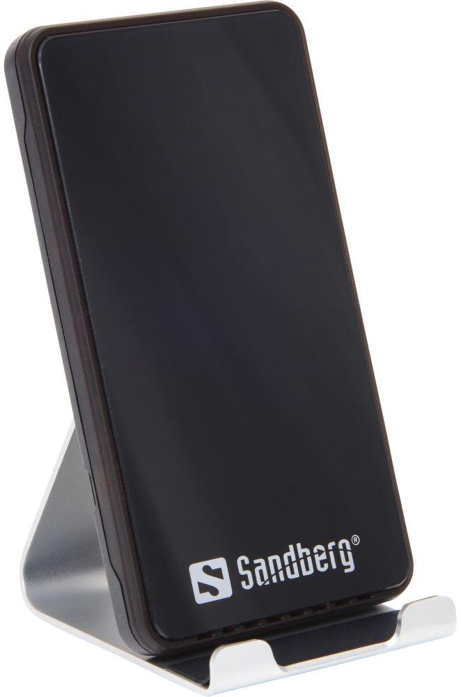 Sandberg Alu Dock 10W bezdrátová nabíječka, černá