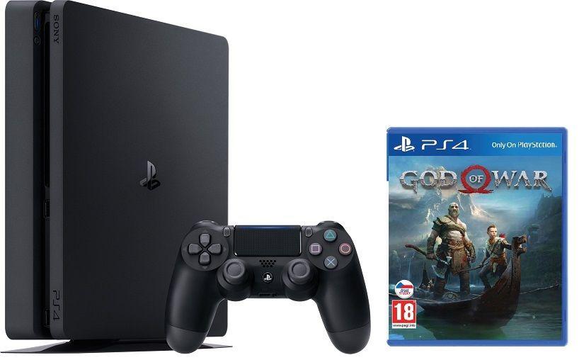 Sony PlayStation 4 Slim 1TB + God of War + dárek Sony DualShock 4 v2 God Of War zdarma