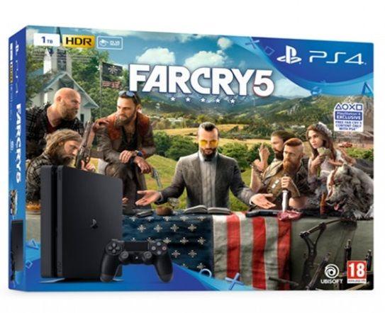 Sony PlayStation 4 Slim 1TB + Far Cry 5 + dárek Sony PS4 DualShock 4 v2 (černý) zdarma