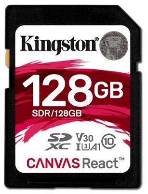 Kingston Canvas React SDXC U3 UHS-I 128 GB