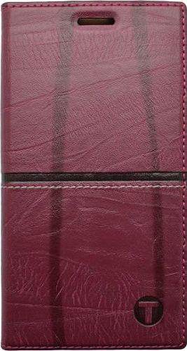 Mobilnet Luxury knížkové pouzdro pro iPhone 5 a SE, červené
