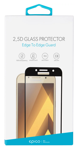 Epico 2,5D tvrzené sklo pro Huawei P Smart, černé
