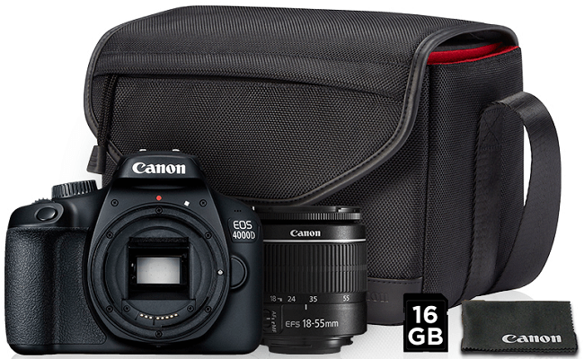 Canon EOS 4000D + EF-S 18-55mm DC III Value Up Kit