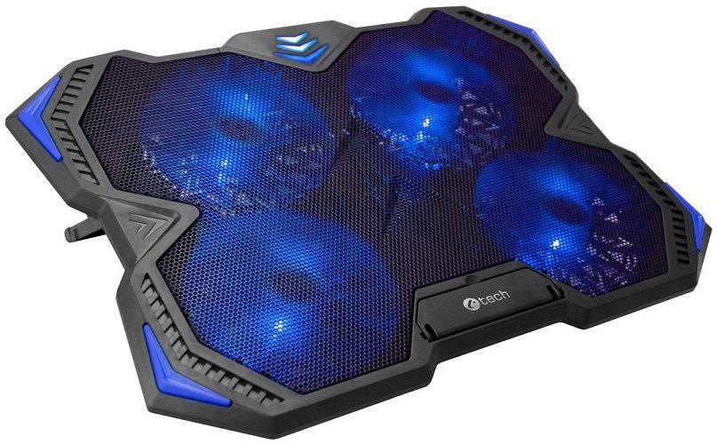 """C-TECH Zefyros - Chladící podložka pod notebook 17,3"""" modrá"""