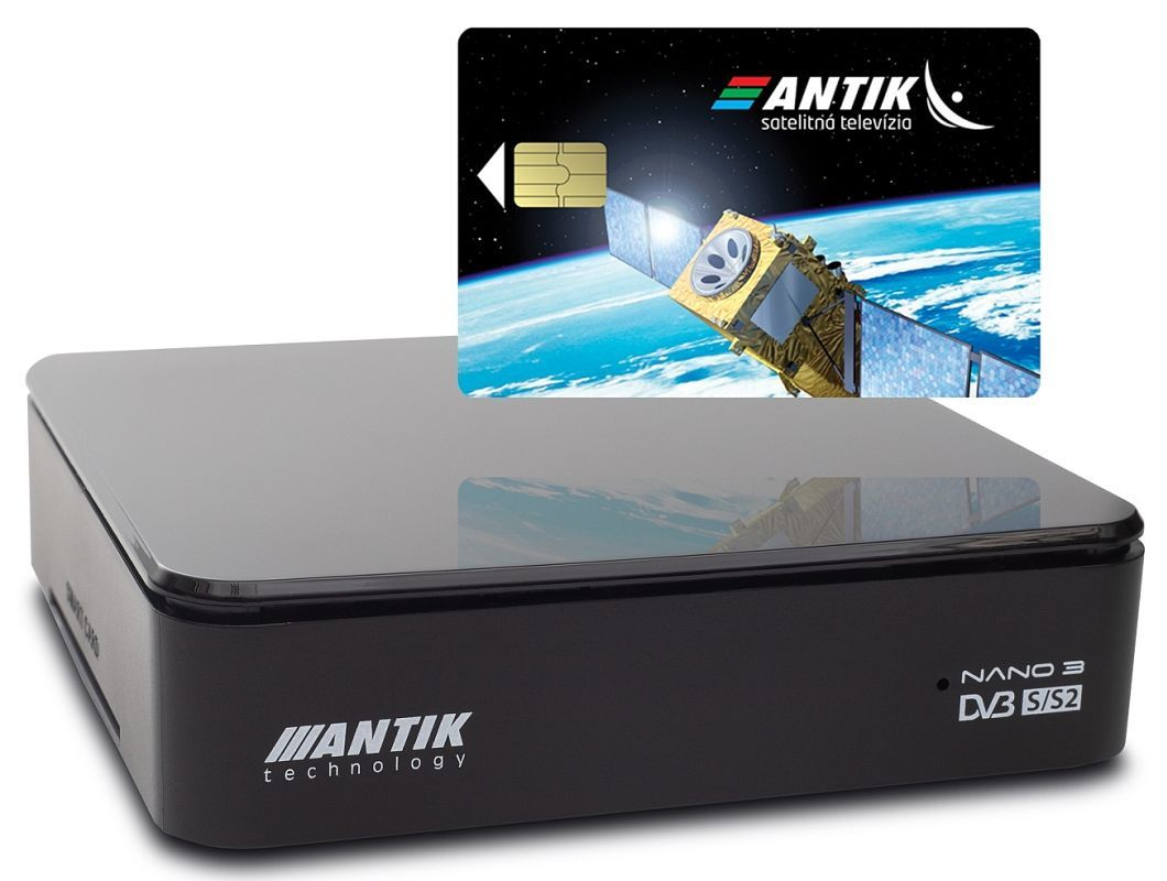 Antik Nano 3S set-top box s archívom + karta AntikSAT