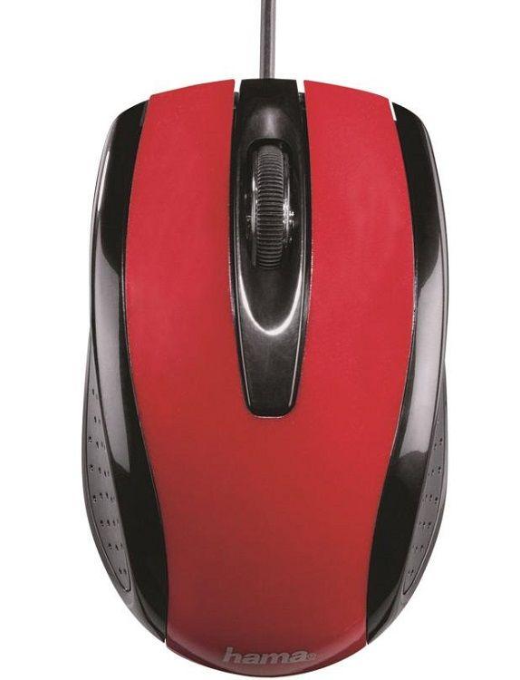Hama AM-5400, 134903 (metalická červená) - drátová myš