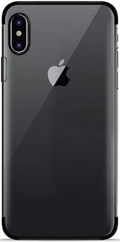 Puro Verge Crystal pouzdro pro Apple iPhone X, černá