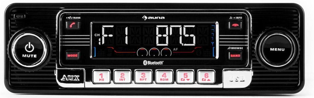 Auna TCX-1-RMD černé USB vstup, slot pro kartu SD/MMC, 3,5 mm jack AUX vstup, Stereo cinch linkový výstup, anténní vstup