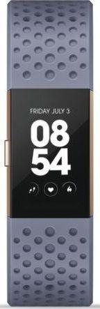 Fitbit Charge 2 L Special Edition růžovo-zlatý s modrým řemínkem