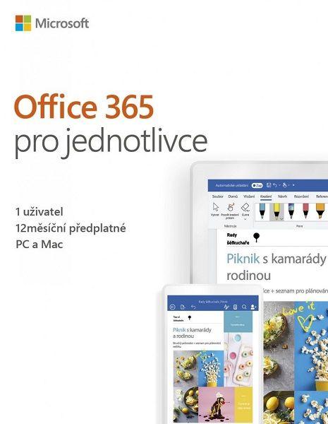 Microsoft Office 365 pro jednotlivce - 1 uživatel/1 rok