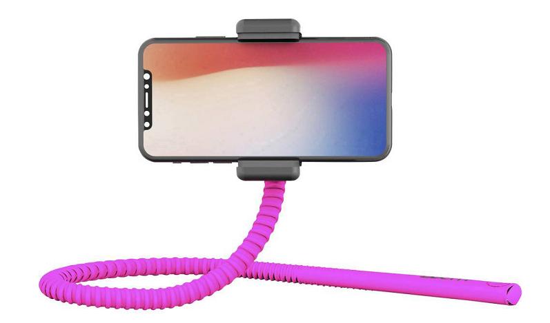 Zbam GEKKOSTICK flexibilní selfie tyč, růžová