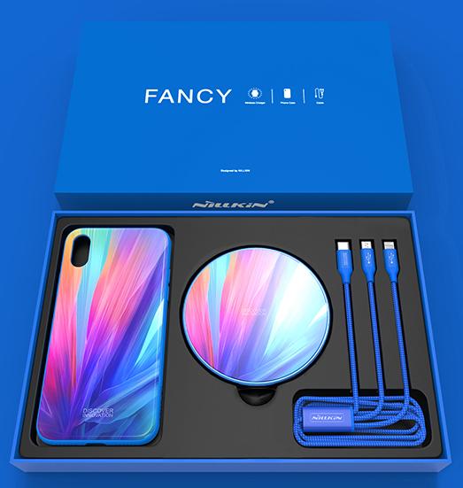 Nillkin Fancy set pre iPhone X, modrá