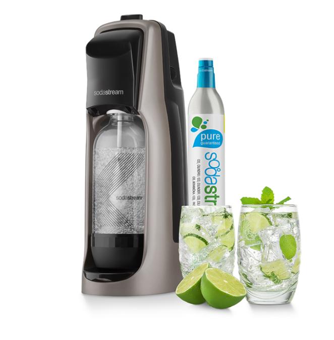 Sodastream Jet Premium titanový + dárek SodaStream Žížaláci Sada pro děti 2 lahve+dárky zdarma