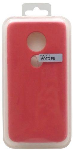 Mobilnet silikonové pouzdro pro Motorola Moto E5, červená