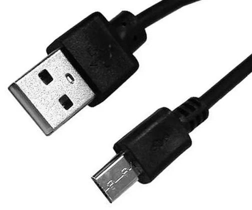 myPhone microUSB kabel s prodlouženým konektorem, černá