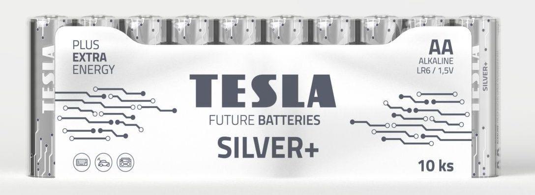 TESLA SILVER+ AA 10ks, alkalická baterie