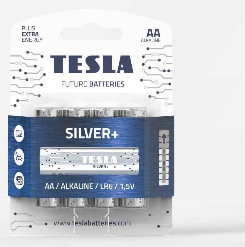 TESLA SILVER+ AA 6ks, alkalická baterie