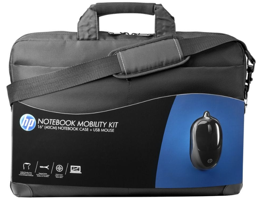 """HP Notebook Mobility Kit - taška 16"""" + USB myš"""