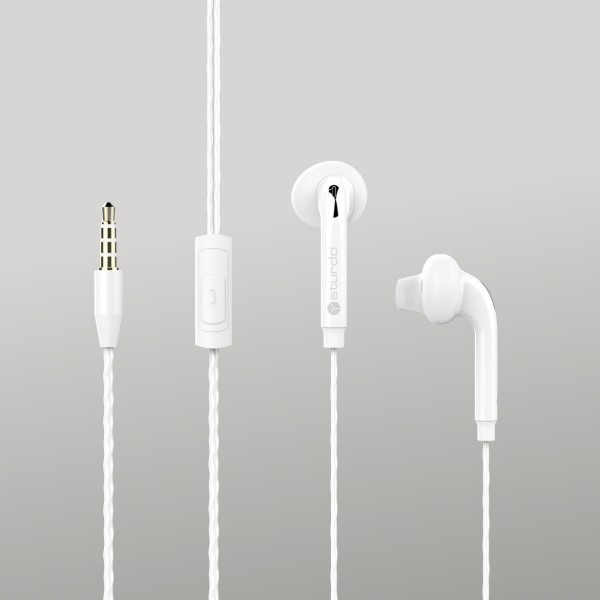 Strudo headset s 3,5 mm konektorem, bílá