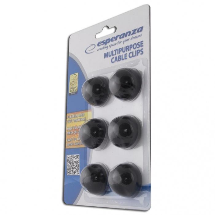 Esperanza EBA101K (černé) - úchyty na kabely