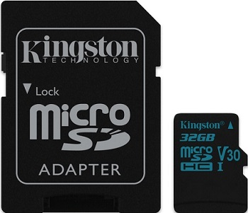 Kingston microSDHC 32 GB Canvas Go UHS-I U3 +SD adaptér