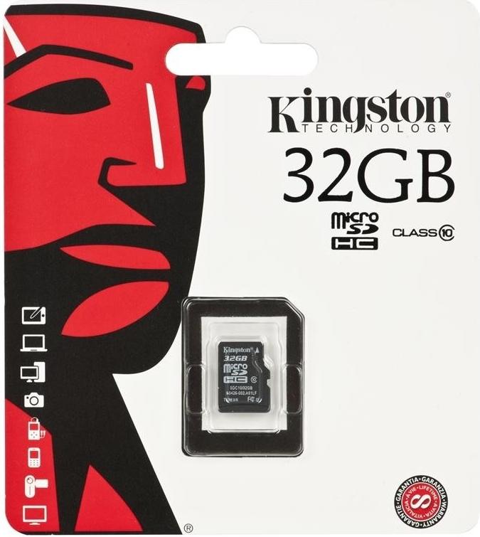 Kingston paměť.karta 32GB microSDHC