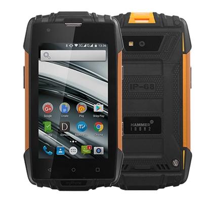 MyPhone Hammer Iron 2 černo oranžový