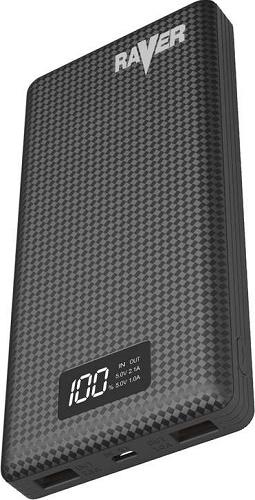 Raver powerbanka 20000 mAh, čierná