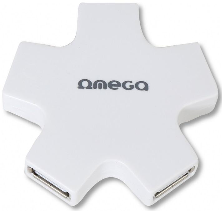 Omega 4 PORT STAR bílý USB hub
