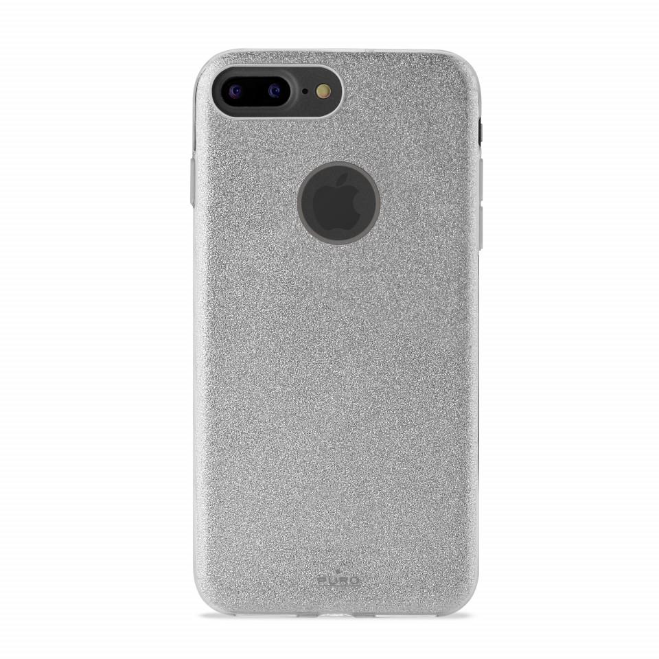 PURO Shine kryt pro Apple iPhone 7 Plus (stříbrný)