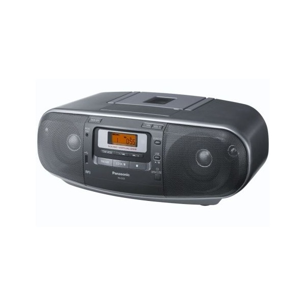 Panasonic RX-D55AEG-K (šedý) - radiomagnetofon s CD