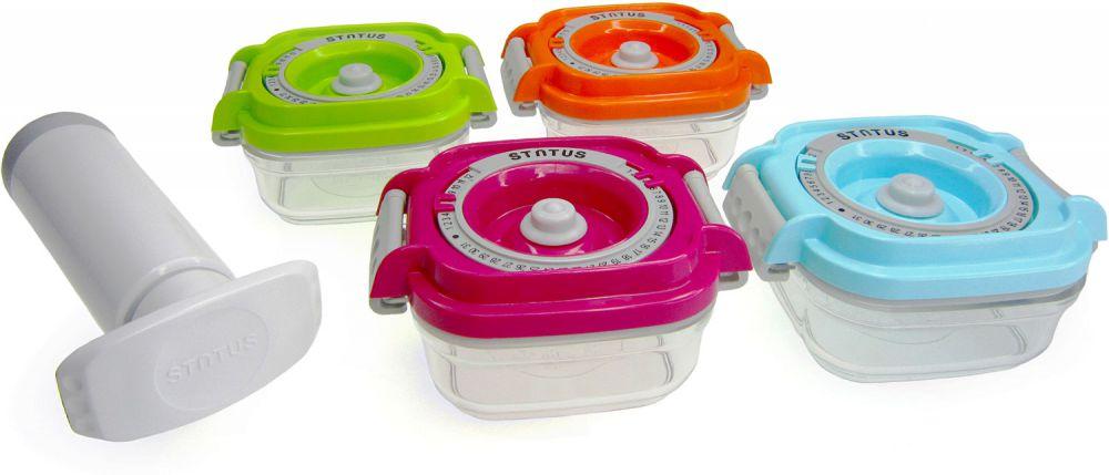 STATUS Baby set 4ks + pumpa - Vakuové dózy