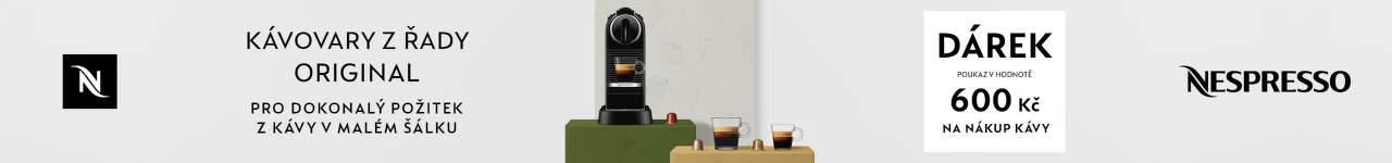 Nespresso poukaz v hodnotě 600 Kč na nákup kávy