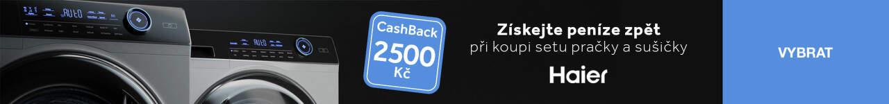 Cashback 2 500 Kč na sety pračky a sušičky Haier