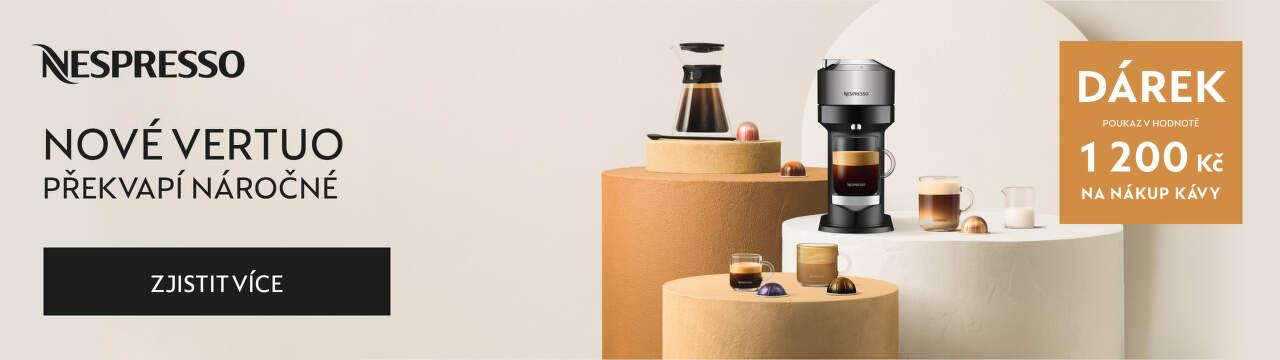 Nové Vertuo s poukazem v hodnotě 1 200 Kč na nákup kávy