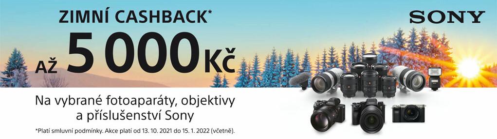 Zimní cashback na foto produkty Sony