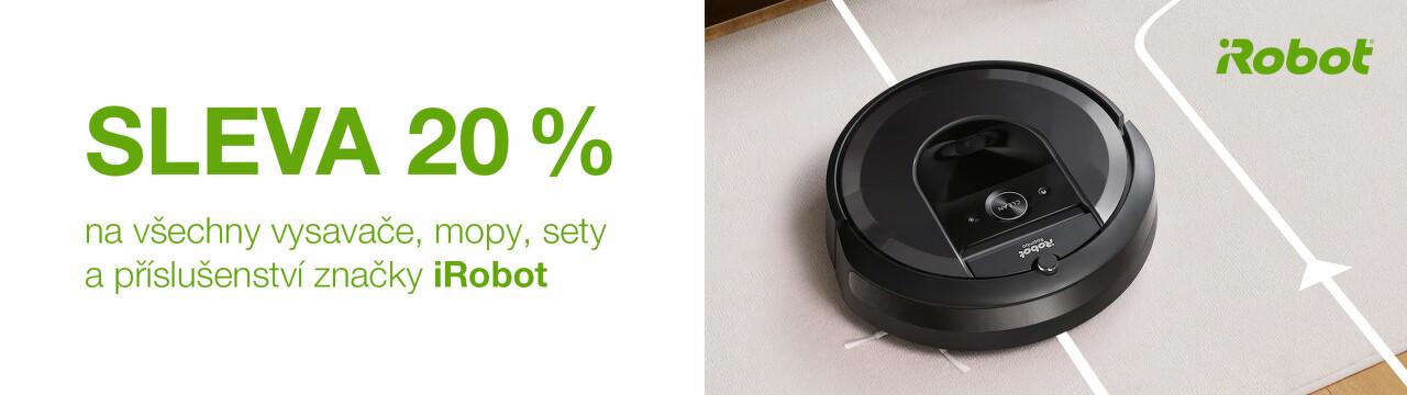 20 % sleva na robotické vysavače iRobot