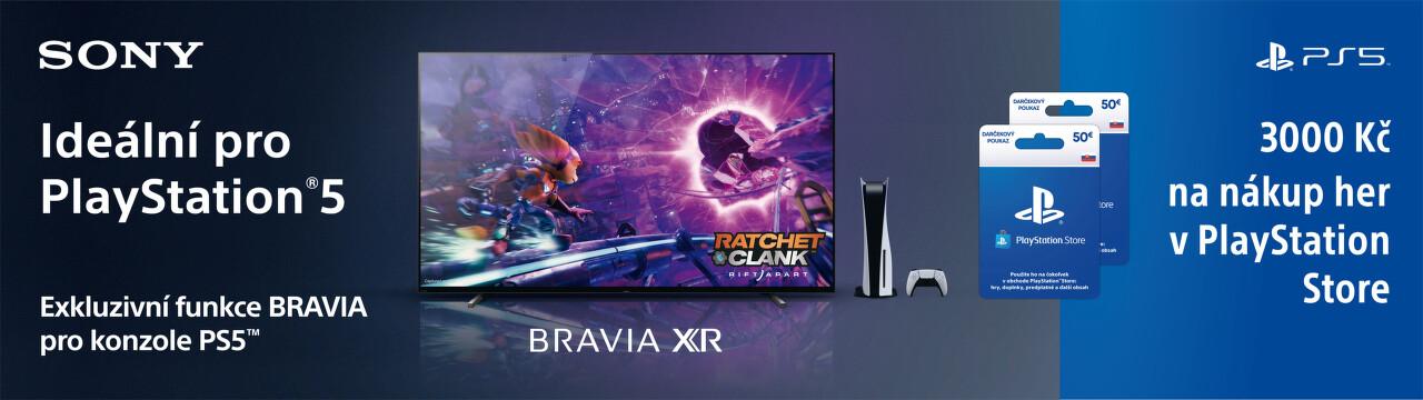 Se Sony BRAVIA XR získáte 3 000 Kč na nákup her
