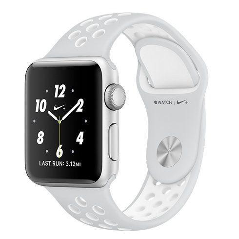 Apple Watch Nike+ 38mm stříbrný hliník s platinovým   bílým sportovním  řemínkem Nike MQ172CN A - Smart hodinky  dbf64f1395