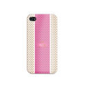 "PURO COVER IPHONE4 ""GOLF"" ECRU/PINK CROWN LOGO GOLD"