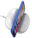 Baseus Silikonová horizontální bezdrátová Qi nabíječka, bílá