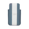 "PURO IPHONE 4 ""GOLF"" ECOLEATHER LIGHT BLUE/BEIGE  LOGO SILVER"
