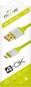 4-OK microUSB kabel 1,5m, zelená