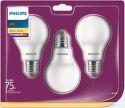 LED Philips žárovka 3-balení, 10,5W, E27, teplá bílá